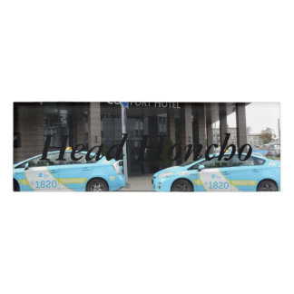 Taxi Cabs in Vilnius Lithuania Name Tag