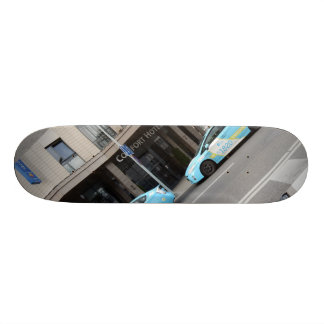 Taxi Cabs in Vilnius Lithuania Skate Deck