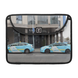 Taxi Cabs in Vilnius Lithuania Sleeve For MacBook Pro
