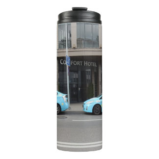 Taxi Cabs in Vilnius Lithuania Thermal Tumbler