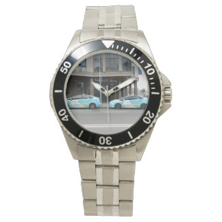Taxi Cabs in Vilnius Lithuania Wristwatch