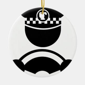 Taxi Driver Ceramic Ornament