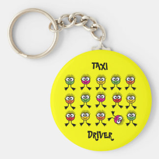 Taxi Driver - Swimming Parent - Bright Yellow Key Ring