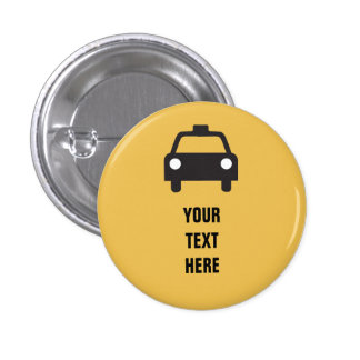 Taxi Icon with custom text Transportation 3 Cm Round Badge