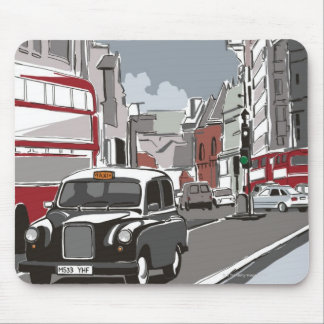 Taxi in London Mouse Pad