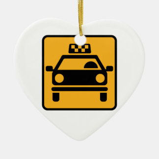 Taxi logo ceramic heart decoration