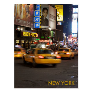 taxi new york postcard