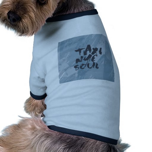 taxi nyc soul graphic design dog tshirt
