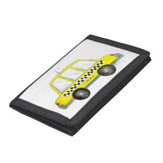 Taxi NYC Yellow New York City Checkered Cab Car Trifold Wallets