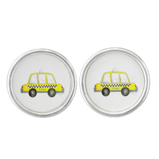 Taxi NYC Yellow New York City Checkered Cab Gift Cufflinks