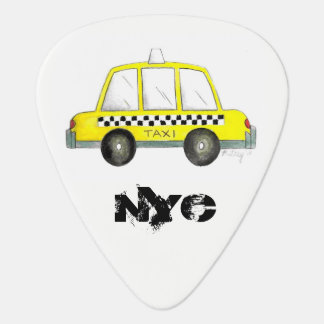 Taxi NYC Yellow New York City Checkered Cab Gift Guitar Pick