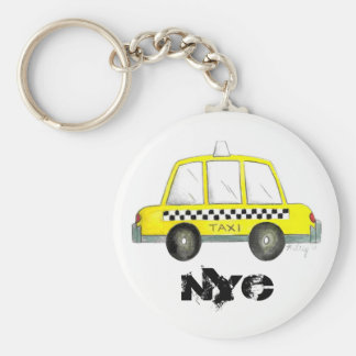 Taxi NYC Yellow New York City Checkered Cab Gift Key Ring