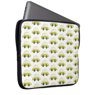 Taxi NYC Yellow New York City Checkered Cab Print Laptop Sleeve