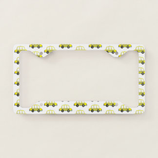 Taxi NYC Yellow New York City Checkered Cab Print Licence Plate Frame