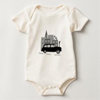 Taxi Scene Baby Bodysuit