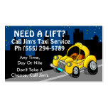 Taxi Service Pack Of Standard Business Cards