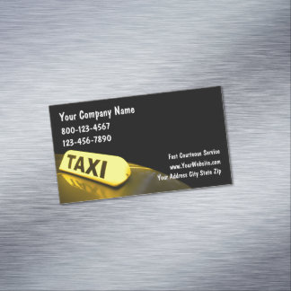 Taxi Service Transportation Design Magnetic Business Card