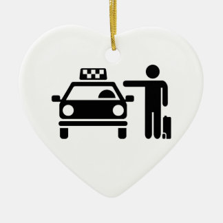 Taxi station passenger ceramic heart decoration