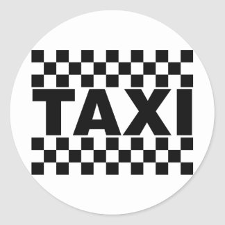 Taxi ~ Taxi Cab ~ Car For Hire Stickers
