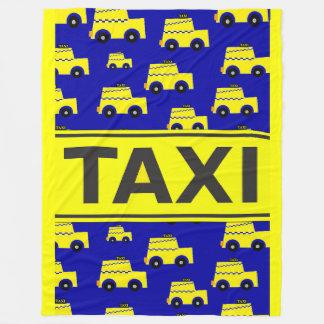 Taxi Theme Large Fleece Blanket