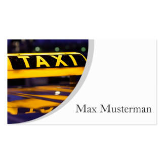 TAXI visiting cards Pack Of Standard Business Cards