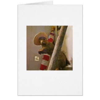 Taxidermy Squirrel in a Hat Note Card