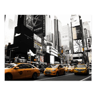 taxis new york city postcar postcard