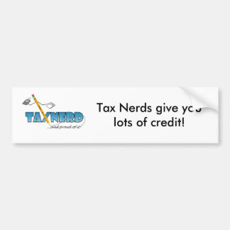 TaxNerd Bumpersticker 2 Bumper Sticker