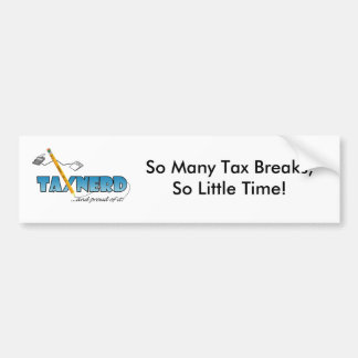 TaxNerd Bumpersticker Bumper Sticker