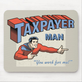 Taxpayer Man Mouse Pad