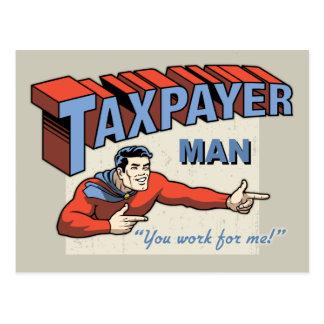 Taxpayer Man! Postcard