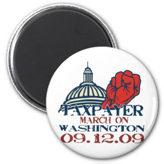taxpayer march revised design magnets