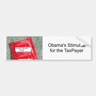 Taxpayers stimulas, Obama's Stimulus for the Ta... Car Bumper Sticker