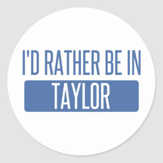 Taylor Classic Round Sticker