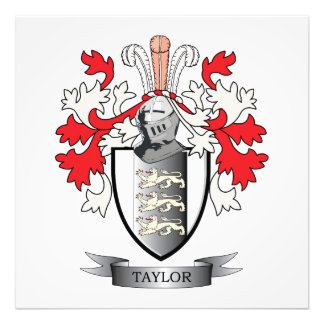 Taylor Coat of Arms Art Photo