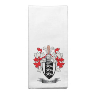 Taylor Family Crest Coat of Arms Napkin