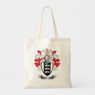 Taylor Family Crest Coat of Arms Tote Bag