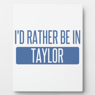 Taylor Plaque