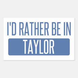 Taylor Rectangular Sticker