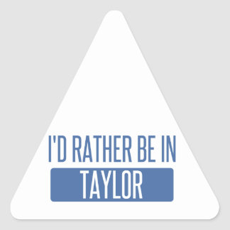 Taylor Triangle Sticker