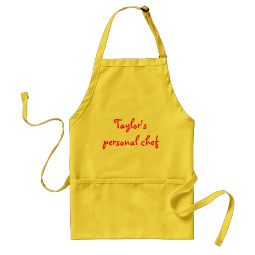 Taylor's personal chef apron