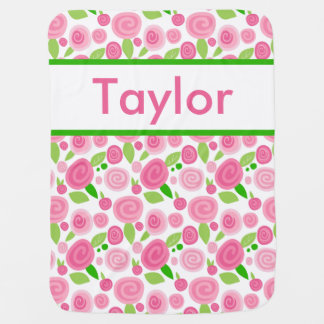 Taylor's Personalized Rose Blanket