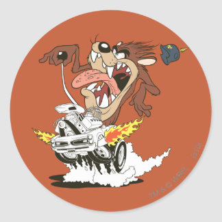 TAZ™ Furious Driving Classic Round Sticker