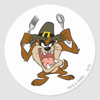 TAZ™ Hungry Classic Round Sticker