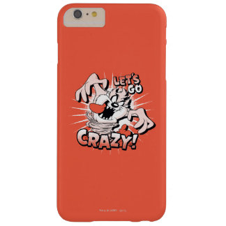 "TAZ™ ""Let's Go Crazy!"" Halftone Barely There iPhone 6 Plus Case"