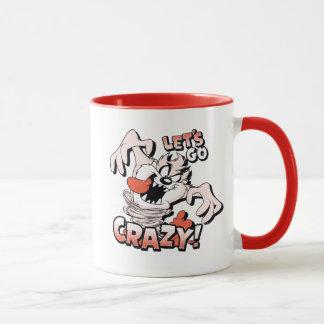 """TAZ™ """"Let's Go Crazy!"""" Halftone Mug"""