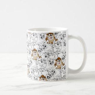 TAZ™ Line Art Color Pop Pattern Coffee Mug
