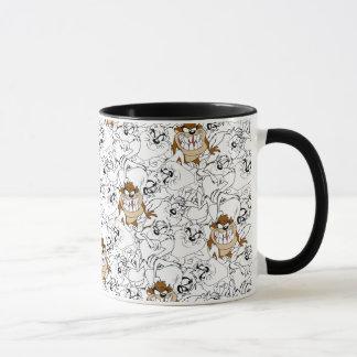 TAZ™ Line Art Color Pop Pattern Mug