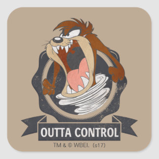 TAZ™ Outta Control Square Sticker