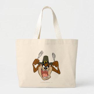 TAZ™ Pilgrim Thanksgiving in Color Tote Bag